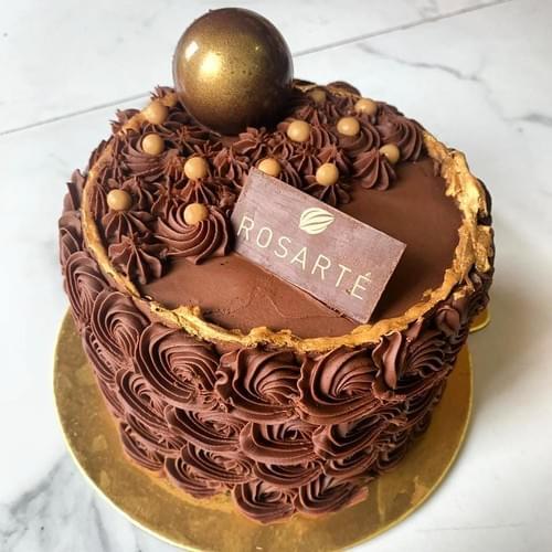 Salted Caramel Dark Chocolate Cake