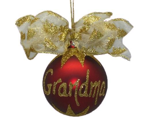 Personalised Burgundy Christmas Bauble