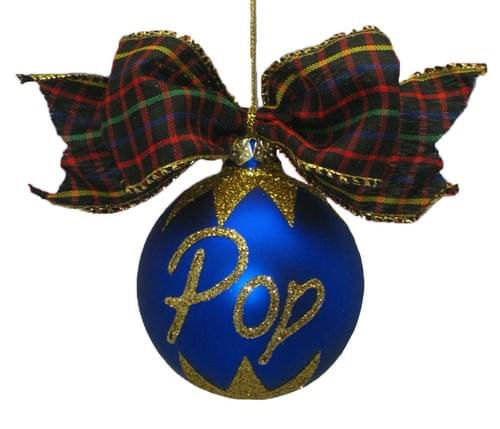 Personalised Navy Blue Christmas Bauble