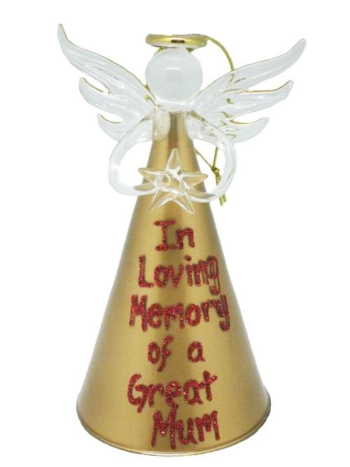 Gold Personalised Christmas Angel