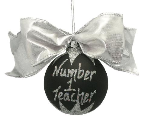 Personalised Black Christmas Bauble