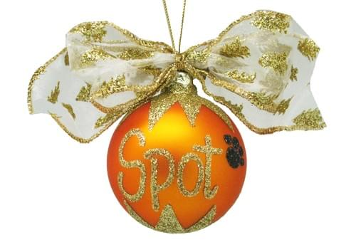 Personalised Orange Christmas Bauble