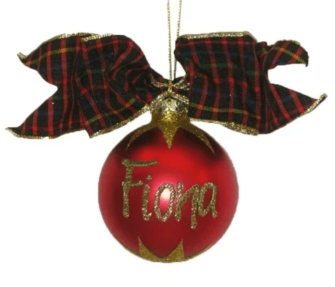 Personalised Red Christmas Bauble