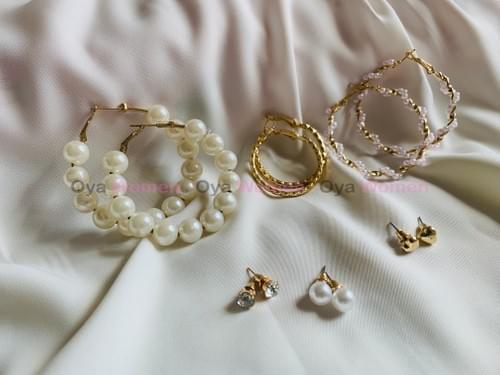 Big pearl hoops & studs