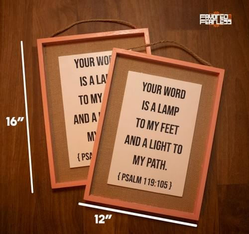 Psalm 119 Wall Decor