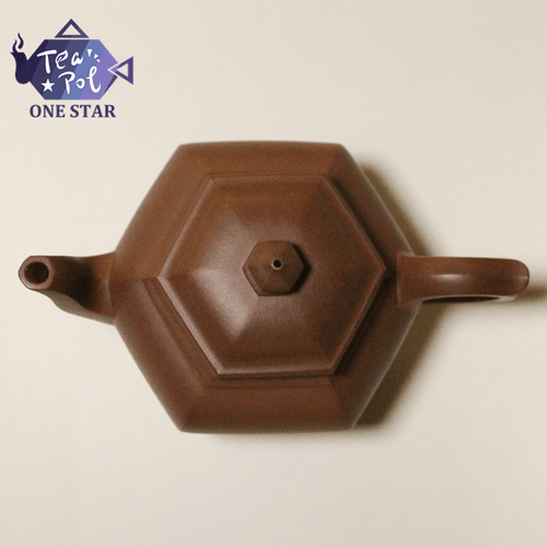 Bottom groove clear Hexagonal pot