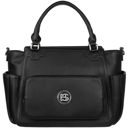 Big Sweety Women's Black Fashion Handbag & Luxury Designer Diaper Bag.