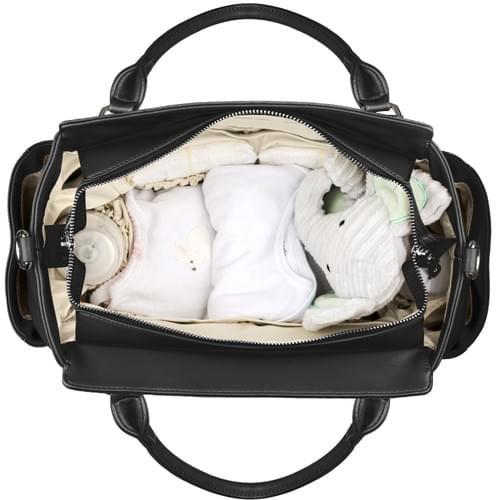 Big Sweety Women's Black Fashion Handbag & Luxury Designer Diaper Bag.