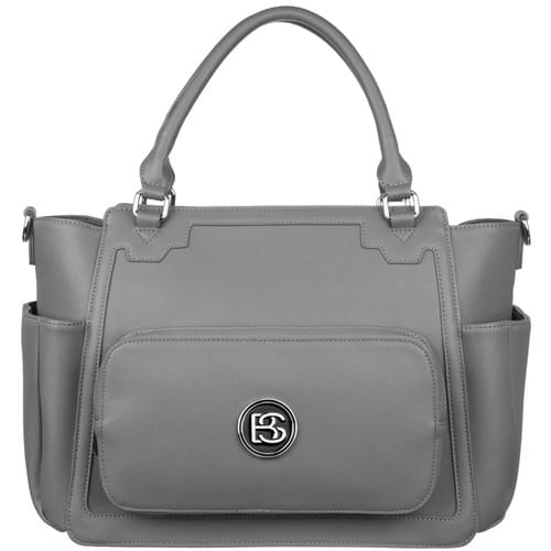 Big Sweety Women's Gray Fashion Handbag & Luxury Designer Diaper Bag.