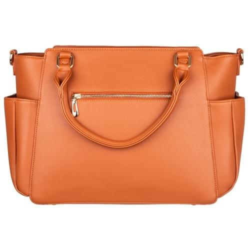 Big Sweety Women's Caramel Fashion Handbag & Luxury Designer Diaper Bag.