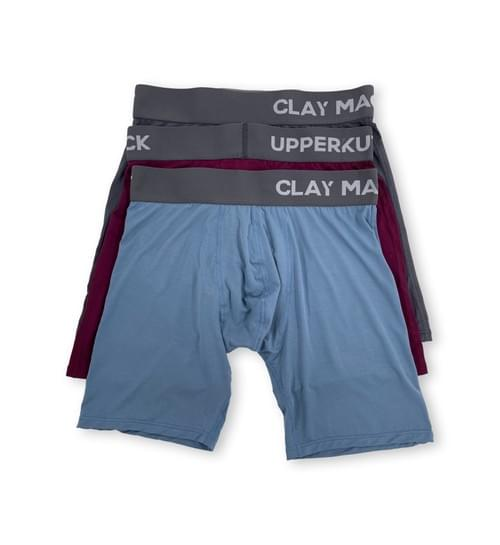 Clay Mack x Upperkut Modal Boxer 3 Pack- Burgundy I Charcoal I Blue