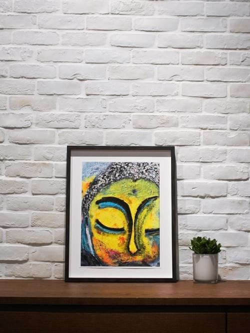 """Peaceful Buddha"" Art Print"