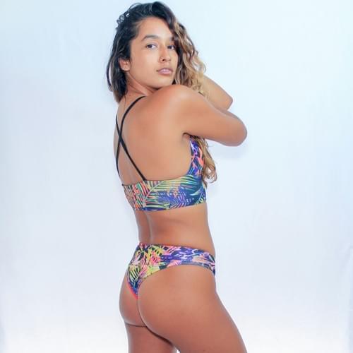 Bikini con tirantes el pecho, calzon doble vista
