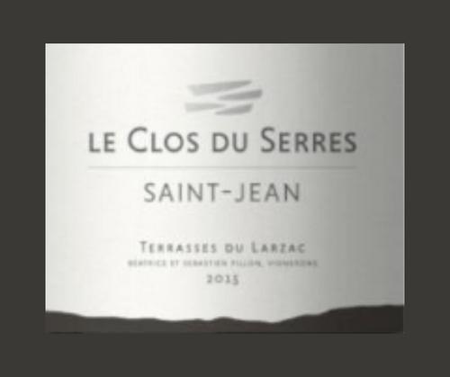 Saint-Jean 2017 | Le Clos du Serres | AOC Terrasses du Larzac | Label AB | Rouge 75cl