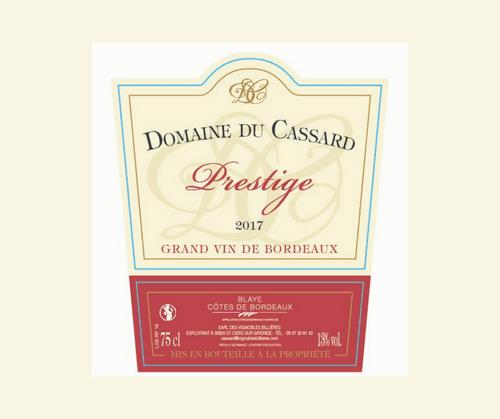 Prestige 2018 | Domaine du Cassard | AOC Blayes-Côtes de Bordeaux Blanc | Blanc sec 75cl