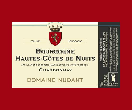 Chardonnay 2017   Domaine Nudant   AOC Hautes-Côtes de Nuits   Blanc sec 75cl