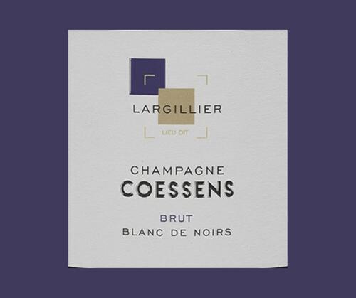 Blanc de noirs Largillier 2015| Champagne Coessens | AOC Champagne | Parcellaire | Brut | 75cl