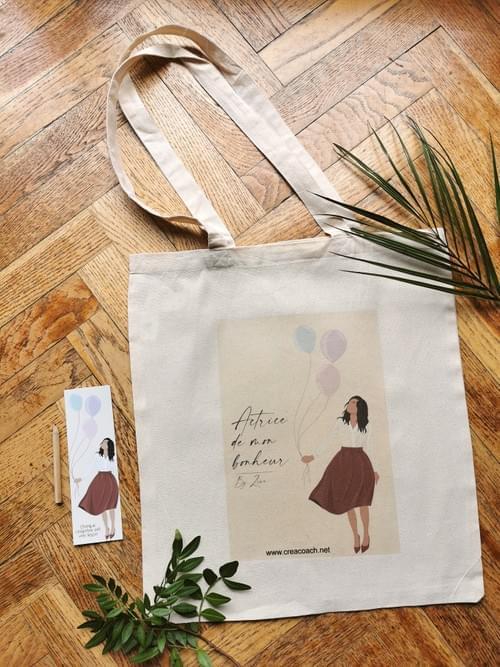 "Tote bag ""Actrice de mon bonheur"""