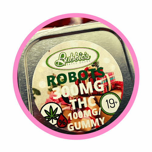 Bubbies Robot Gummies, 300mg