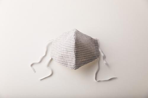 【3サイズ 】久留米織 文人柄 立体  布マスク(日本製)