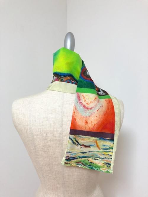 NEW ! 草木染め布 × Kanartオリジナルテキスタイル スカーフ
