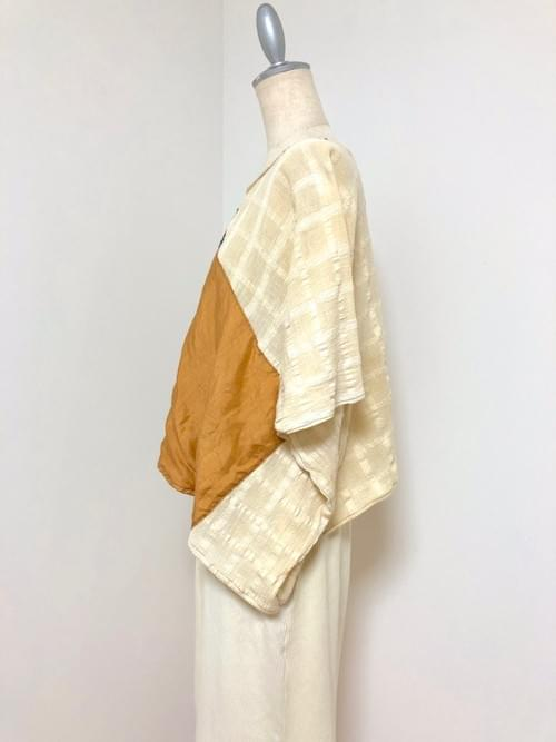NEW ! 梅の木染め布 × Kanartオリジナルテキスタイル トップ