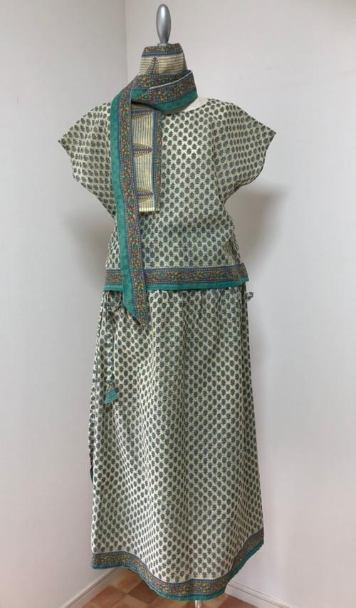 SALE サリーリメイクドレスセット Sari Remake Dress Set