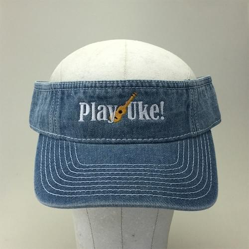 Light Denim Washed Cotton Visor
