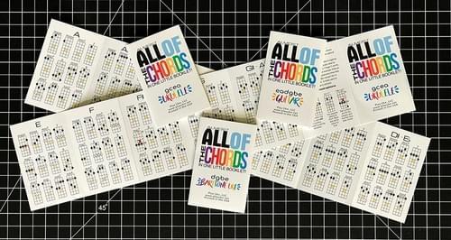 Mini chord booklets - Ships Worldwide!