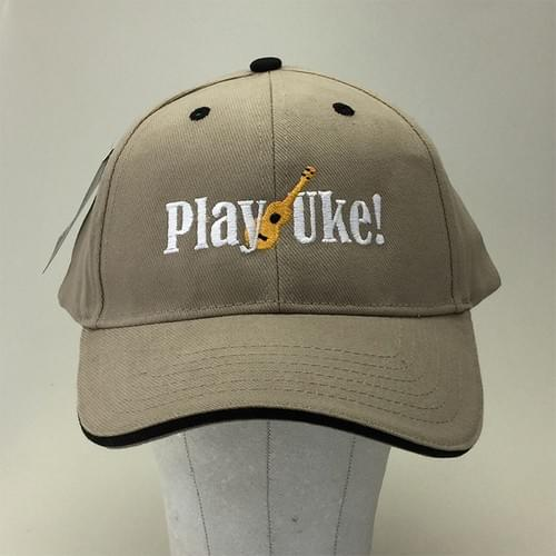 Khaki Structured Cap with Black Piping & Accents