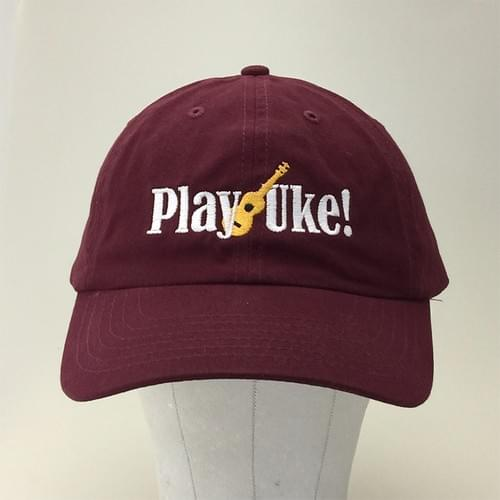 Maroon Unstructured Brushed Cotton Cap