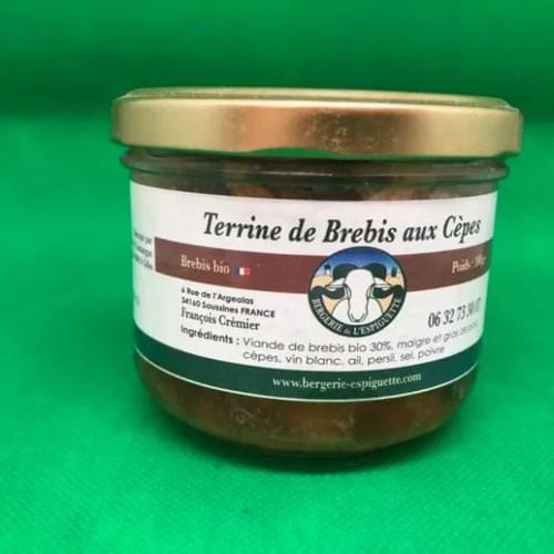 Terrine de brebis aux cèpes 190 g