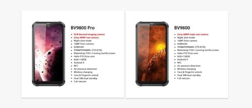 BV9800 Pro - 2020 Best Rugged Smartphone with FLIR Thermal Camera