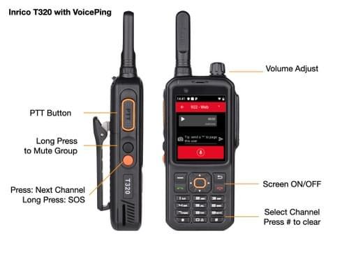 Inrico T320 - Push-To-Talk (like Nextel)