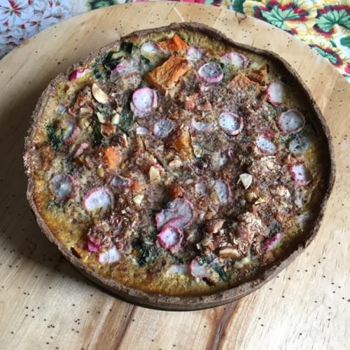 Rainbow Med Veggie Pie