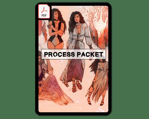 REBURN Issue #1 Digital Process Packet