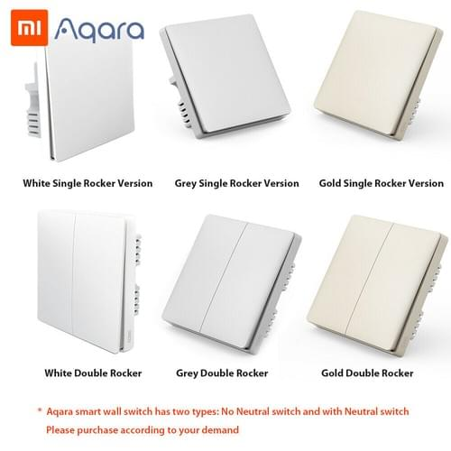 Aqara Single Gang Wall Switch (No Neutral Wire Required)