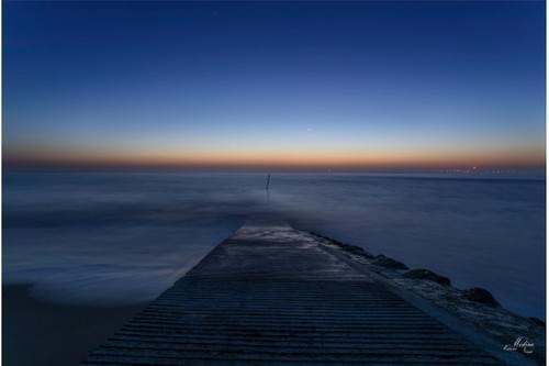 40 cm x 60 cm-Pyla sur mer un soir