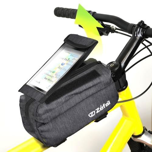Bolso para bicicleta Zefal Top Tube (resistente, funda extraíble para teléfono)