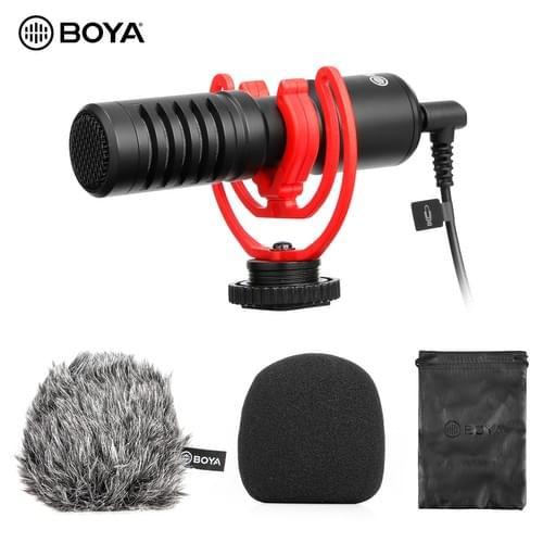 BOYA BY-MM1 + Micrófono de grabación de audio y video profesional