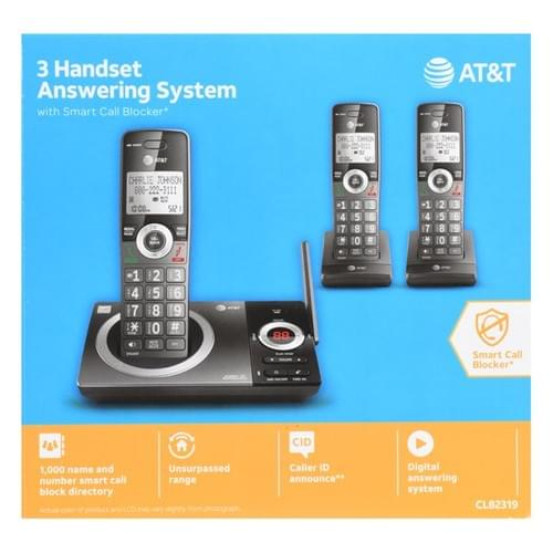 Teléfono Inalámbrico AT&T CL82319 3 Sistema De Contestador Automático