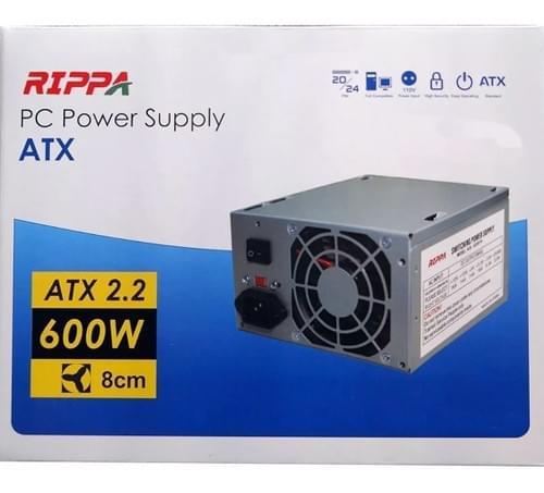 Fuente De Poder Rippa 600watts Atx 20+4pines