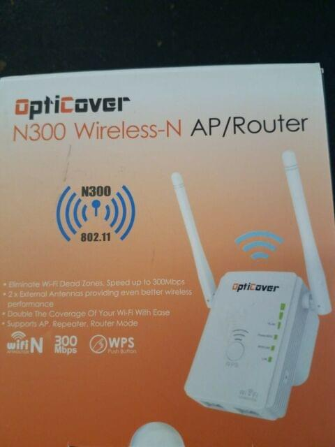 Repetidor OptiCover N300 Wireless N AP Router Wifi Extender
