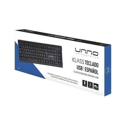 Teclado Unno USB Español KB6706BK