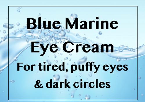 Blue Marine Revitalising Eye Cream for tired puffy eyes and dark circles