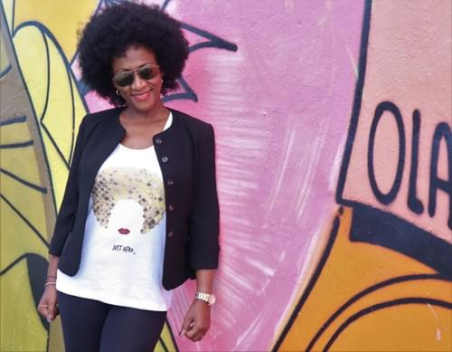 Disco Afro Woman Tank Top