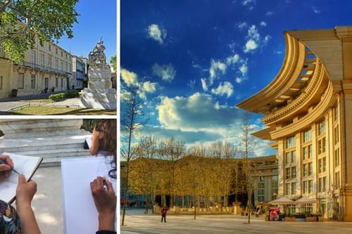 Balade croquée : architecture de Montpellier du Moyen-Âge à nos jours (34)