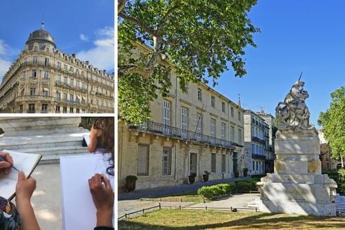 Balade croquée : architecture de Montpellier du Moyen-Âge au XIXème siècle (34)