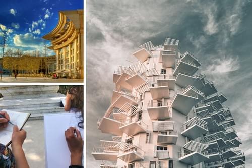 Balade croquée : architecture de Montpellier du XXème siècle à nos jours (34)