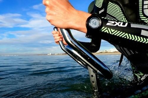 Séance d'aquabike en mer (Carnon - 34)